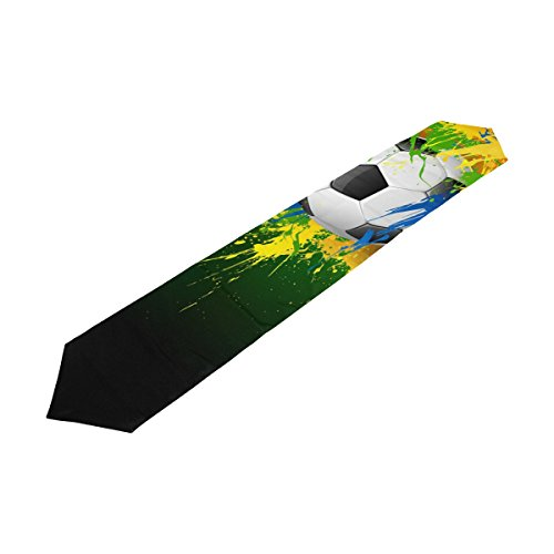 Rectangle Soccer Ball Football Printed Table Runner 13x90in for Wedding Birthday Holiday by Top Carpenter