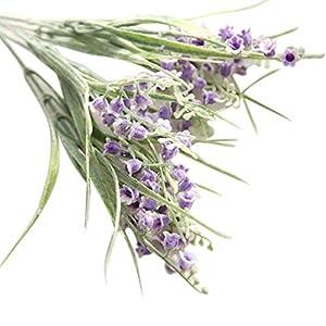 MARJON FlowersHot Sale!!! Artificial Fake Flowers Small Bells Floral Wedding Bouquet Home Decor (Purple) 22