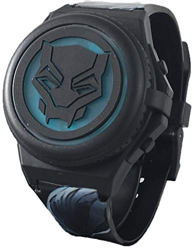 Wrist Watch Dragon White - Black Panther Kid's Light Up Digital Watch with Opening Face Cover