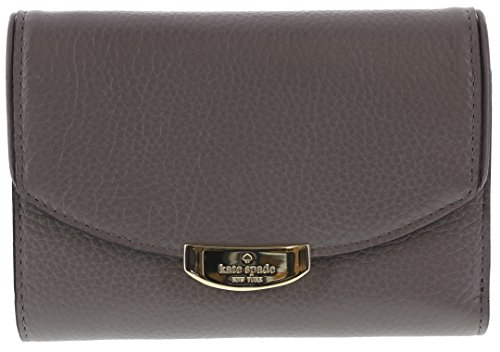 Kate Spade New York Mulberry Street Callie Pebbled Leather Wallet (Hare Grey)