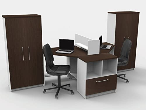 group contemporary office teamwork office reception desk corner collaboration furniture model 4334 pc group contemporary whiteespresso color update your spaces with commercial amazoncom