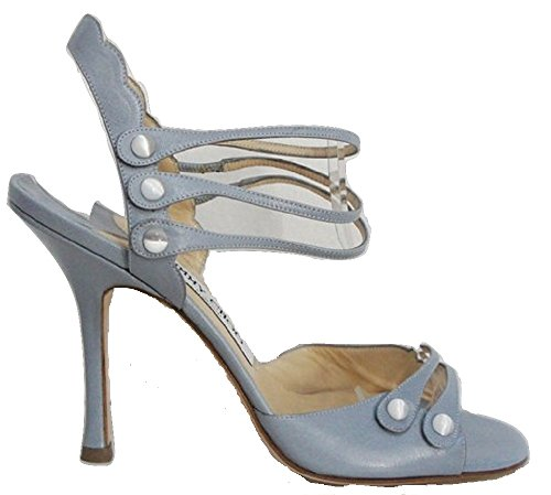 Jimmy Choo , Sandales pour femme Bleu Bleu ciel 36 (4 UK)