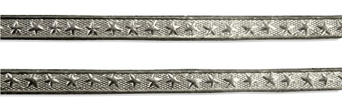Kunze Dresden Trim Border Star Strips, 3/16-Inch, Silver