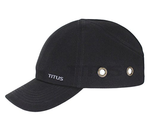 TITUS Lightweight Safety Bump Cap - Baseball Style Protective Hat (Regular, Black)