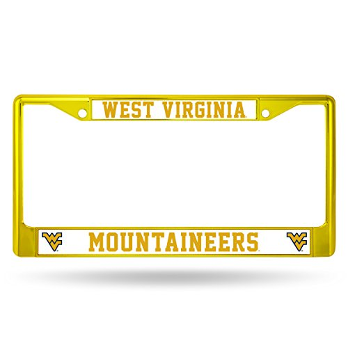 NCAA West Virginia Mountaineers Colored Chrome Plate Frame, - Outlet Va Malls