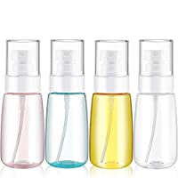 4 Pieces 2 Oz (60ML) Mist Spray Bottle Travel Spray Bottles Fine Mist Spray Bottles Refillable Travel Containers for Skincare Lotion/ Makeup Sprayer/ Perfumes/ Cosmetic