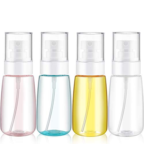 (4 Pieces Mist Spray Bottle Continuous Mist Empty Spray Bottle Travel Size Refillable Travel Containers for Skincare Lotion/Makeup Sprayer/Perfumes/Cosmetic (60ml))