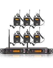 Xtuga RW2080 - Sistema de monitoreo In-Ear (2 canales, corporal 2/4/6/8/10, monitoreo con audífonos inalámbricos SR2050), Negro, 6 bodypack with transmitter