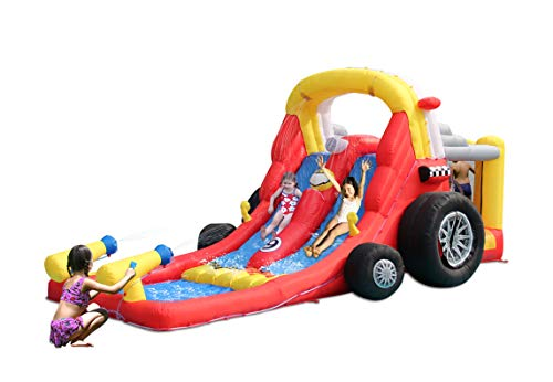 KIDWISE Formula One Bounce House with Slide - Wet or Dry