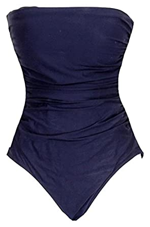 bce670fa3bf Image Unavailable. Image not available for. Color  J Crew DD Cup Ruched  Bandeau One-Piece ...