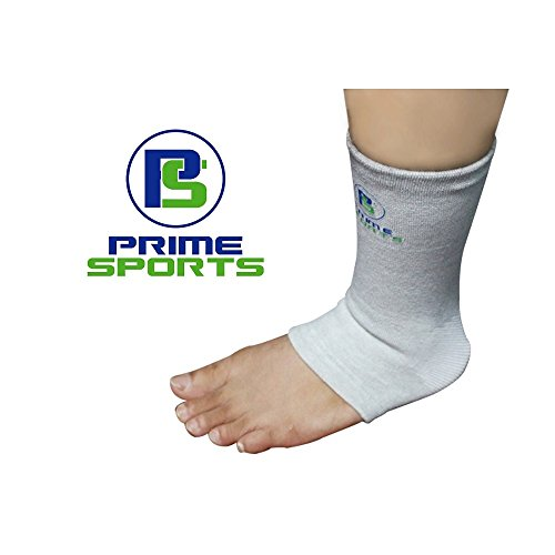 Prime Sports Ankle Sleeve - Compression for Sprains, Arthritis, Sports, Exercise, Running - Elastic Nylon Stabilizer - Help Accelerate Recovery from Injury and Relieve Pain - One Sock