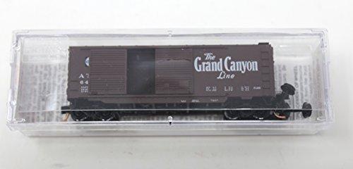 40' Double Door Box Car (Micro-Trains Grand Canyon Line Atchison Topeka Santa Fe 40' Standard Box Car Double Doors Toy Model Train 23290)