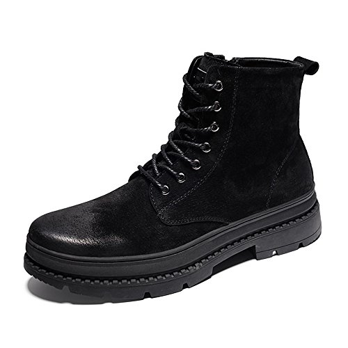 Men's Shoes Feifei Winter Keep Warm High Help Martin Boots 3 Colors (Color : 01, Size : EU39/UK6.5/CN40)