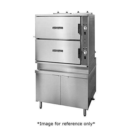 Convection Steamer Gas Two Compartments - Crown GCX-16 Gas Convection Steamer with Two Compartments, (16) 12
