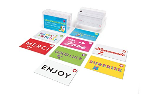 Price comparison product image 80 Paper Gift Tags, Labels & Cards, Perforated in Box Cute Messages