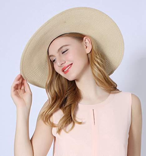 Lieyliso Verano Grandes Sol El Sombreros Khaki color Playa Bronceado Techo Con Sombrero Khaki Para De RrTrF