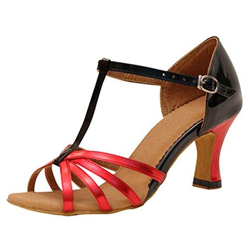 red cadeaux de black nbsp;Les danse de femmes Chaussures 7 danse tango bal latine 5CM danse chaussures 8CM de YFF TxqEHYwnw