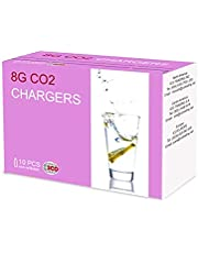 Impeccable Culinary Objects (ICO) 10 units Co2 Soda Chargers for Soda Siphons, 8g, GOLD