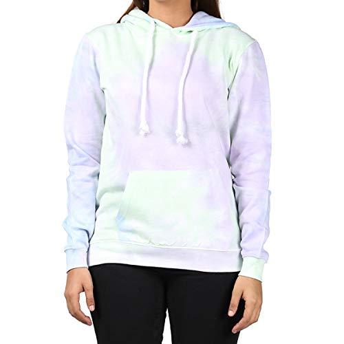 Tie Front Wool Sweater - Kara Hub Tie Dye Hoodie Pastel Tie-Dye Hoodies Long Sleeve Pullover Hooded Sweatshirt (X-Large, Pastel Grape Thick Drawcord)