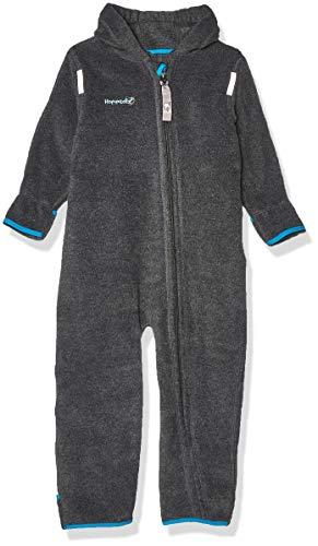 HOPPEDIZ Fleece overall voor baby's en peuters, antraciet, 80-86
