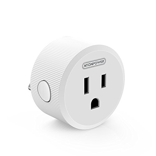 Smart Plug WiFi Outlet Timer, NTONPOWER Electrical Outlet Switch Compatible with Amazon Alexa and Google Assistant Voice Remote Control for Home Appliance (White)