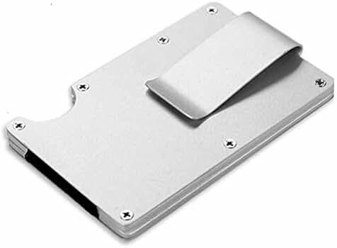 Antitheft Men Metal Wallets Slim Minimalist Business Card Holder Credit Card Case Rubber band …