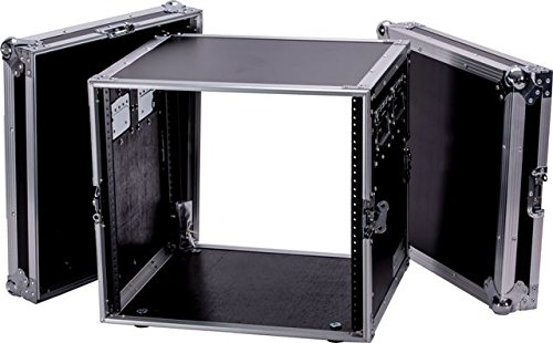 DEEJAY LED TBH10UAD Fly Drive 10u Space Rack DJ Amplifier Case with 18-Inch Body Depth by DEEJAYLED