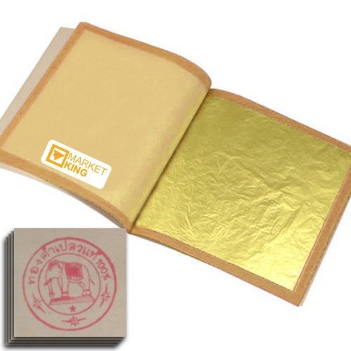 Edible Gold Leaf, Gold Foil, Size Xx-large 100 Pc 24 Karat 5x5cm. For Cooking Art NEW Genuine Authentic for Foods, Cakes & Chocolates, Decoration, Health & Beauty, Home Arts & Crafts, Metal Working, Marketking Brand