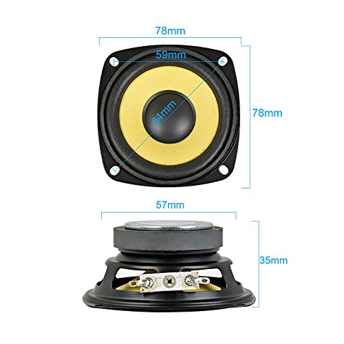 AIYIMA 2Pcs 3Inch Audio Portable Speakers Full Range 4Ohm 10W Speaker Magnetic Multimedia Loudspeaker DIY HIFI Home Theater by AIYIMA (Image #5)