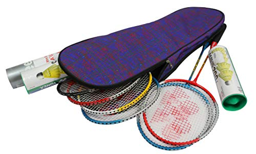 KD Badminton Racket Cover Bag with Adjustable Shoulder Strap Racquet Bag Fits 6+ Racket, Shuttle Box, Towel and More