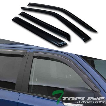 Topline Autopart Sun/Rain Smoke Guard Shade Deflector Window Visors For 96+ Nissan Pathfinder/Qx4 (Nissan Pathfinder Window Visors compare prices)