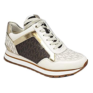 official shop uk store official supplier Amazon.com   Michael Kors Maddy Trainer Vanilla/Brown ...