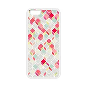 Jumphigh Geometric Chevron IPhone 6 Cases Pop Arty, and a Bit Like a Quilt. Nice Retro Design Plus Modern, Summery Shades. Cheap for Boys, Iphone 6 Case Case Cheap for Boys [White]