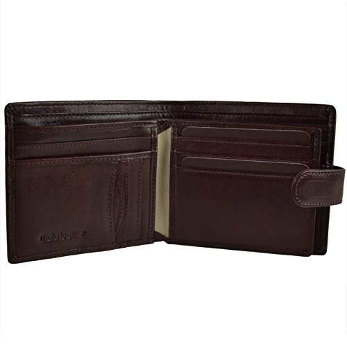 Mala Men's Mala Leather Brown Tabbed Leather Wallet Leather pqaUrqf
