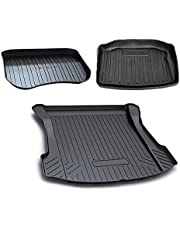 Perfect Fit for Tesla Model 3 2019-2021 Heavy Duty Rear Front Cargo Trunk Cover Mat Luggage Tray 3 Piece Set