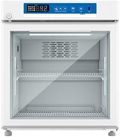Jackscool PR55L 2°C to 8°C Display Beverage Cooler Merchandiser Refrigerator,Compact Medical Grade Pharmacy Refrigerator
