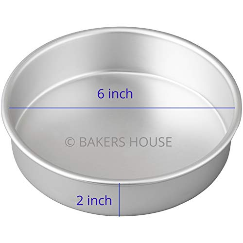 TRYTOOK 6 inch Aluminum Cake Sponge Baking Mould for Oven & Convection (1/2 kg Cake) Price & Reviews