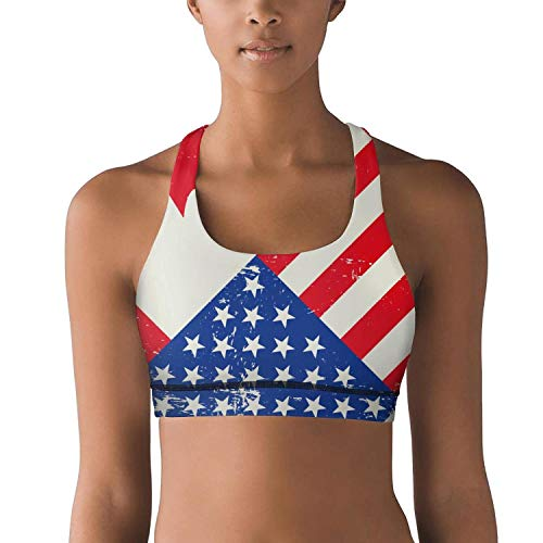 FItTer Flag Day Merica Independence Day Canada Women Girls Sports Bras Stretch Sexy