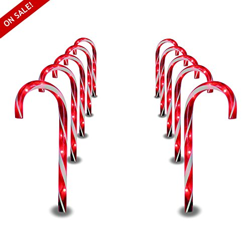 Candy Cane Outdoor Path Lights in US - 6
