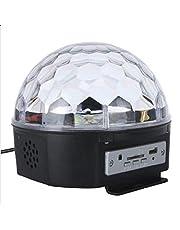 6 CH DMX512 التحكم الرقمي ار جي بي، كريستال سحري بتاثير ضوء دي ام اكس ديسكو دي جيه، اضاءة المسرح، جهاز التحكم عن بعد، الموسيقى