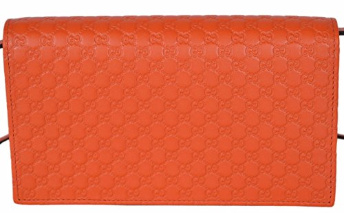 26771bf698d60 Gucci Women s Leather Micro GG Guccissima Crossbody Wallet Bag ...