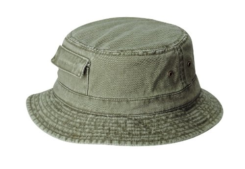 Image Unavailable. Image not available for. Colour  Dorfman Pacific Global Pigment  Dyed Cargo boonie Bucket Hat ... 6820a552623e