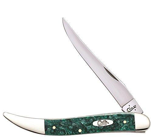 Case Green Sparkle Kirinite - Medium Texas Toothpick (1010094 Ss) 32583 Green Sparkle Kirinite - Medium Texas Toothpick (1010094 Ss)