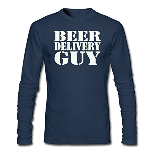 ZWEN Men's Beer delivery Guy T-Shirts (Delivery Guy Beer T-shirt)