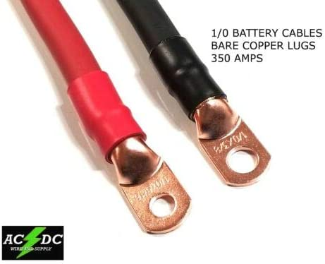 2 Gauge COPPER Battery Cable BLACK SAE J1127 SGT Automotive Power Wire 25/' FT