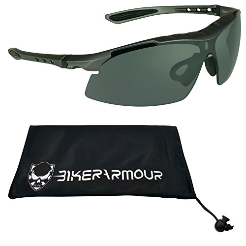 Z87.1 Satety Sunglasses for Cycling, Hunting, Shooting, Running, Motorcycle Riding, Tennis, Driving and All Sports Activities. Built in sweat proof foam cushion on top of frame. Medium to most Xtra - Sunglasses Sweat Proof