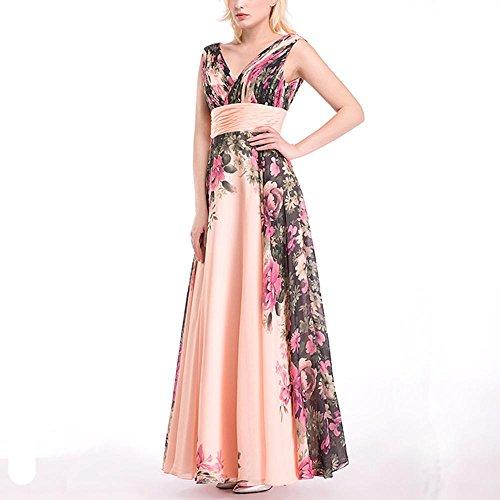 Dresses Elegante Sin La Baile Vestido Pink Mangas De Lady Gasa Boda Novia 1Hxq7Zw