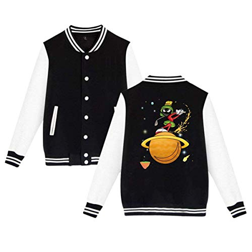 Marvin The Martian Planet Mens & Womens Funny Hoodie Baseball Uniform Jacket Sport Coat Black