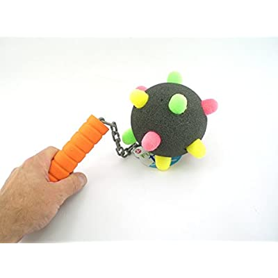 Hammond toys Foam Mace Chain with Spike Ball Toy: Toys & Games