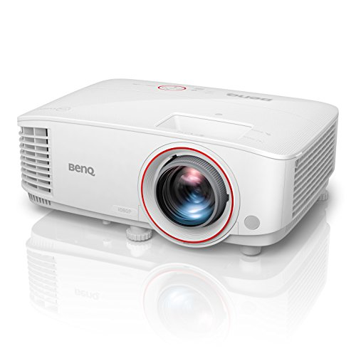 BenQ TH671ST 1080p DLP Home Theater Short Throw Projector, 3000 Lumens, Low Input Lag for Gaming, Ambient Light Sensor